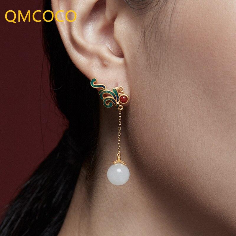 qmcoco-новый-стиль-искусственная-кожа-для-Женщин-Модные-Винтажные-классические-геометрические-нестандартные-серьги-Изящные-Ювелирные-изде