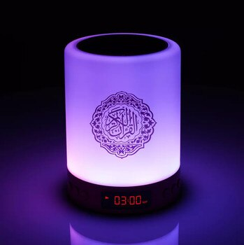 AZAN Quran Speaker Night Light Islamic Ramadan Gift Mp3 Coran Player With Prayer Alarm 16GB Memory Card Veilleuse Coranique