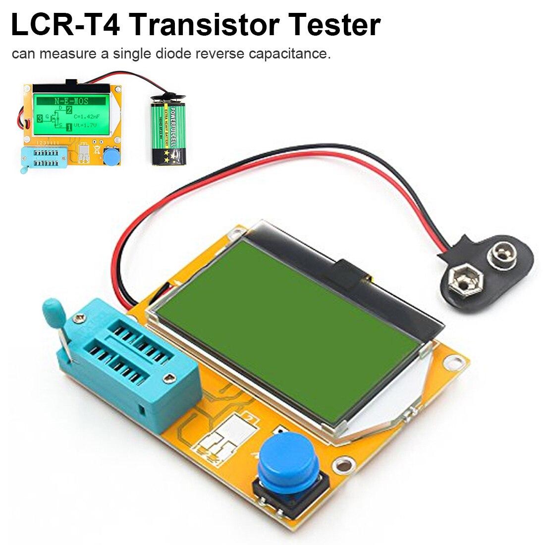 ESR-T4 Meter Transistor Tester Digital LCR Mega328 V2.68 ESR Diode Triode Capacitance MOS/PNP/NPN LCR 12864 LCD Screen Tester 20pcs sp8m3 lcd high pressure plate mos transistor
