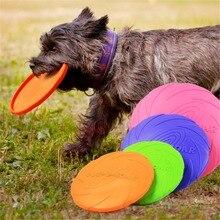 Drôle Silicone soucoupe volante chien chat jouet chien jeu disques volants résistant mâcher chiot formation interactif fournitures pour animaux de compagnie