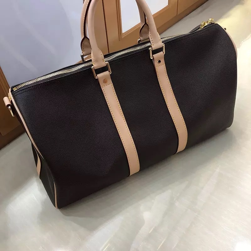 Brand luxury Designer fashion travelling bag women duffel big size keepall bag genuine leather with high quality free shipping