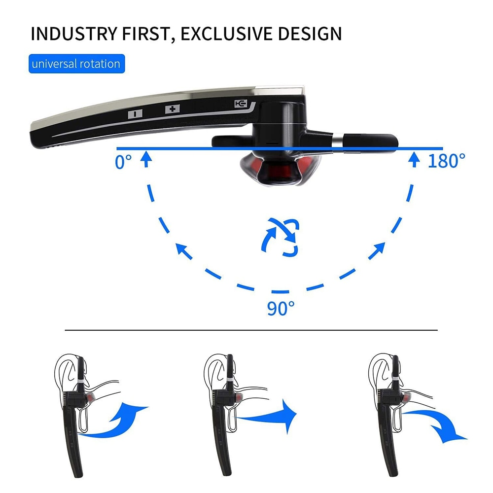 2021 Newest B5 Bluetooth Earphones Wireless Headphones Stereo Handsfree Noise Canceling Headset With Mic For All Smart Phones enlarge