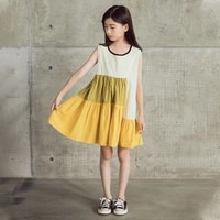 teenager princess dress striped sleeveless girl dress 2021spring patchwork summer kids dresses for girls sleeveless ruffles