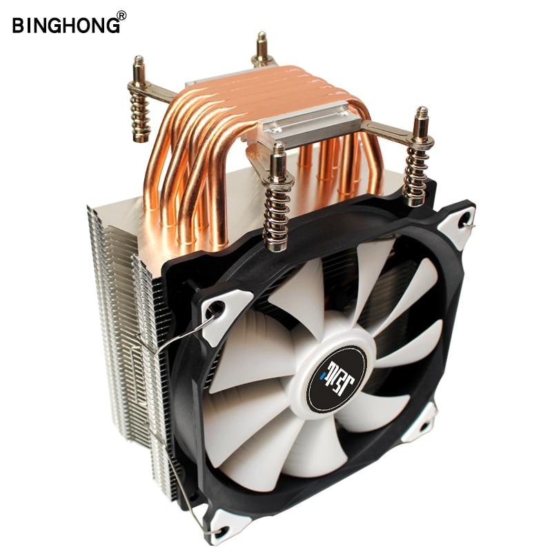 BINGHONG Cpu cooler 6 Radiato de tubo de calor 120mm RGB enfriamiento por ventilador de Cpu disipador de calor para Intel LGA X79 X99 2011 placa base del servidor
