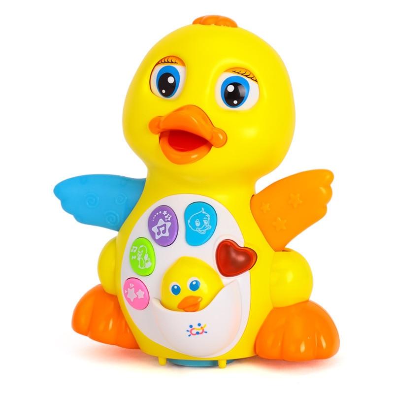 Pato Ruibarbo Oscilante Para Bebé Juguete Musical Eléctrico Universal Para Bebé De 1-3 Años Juguete De Animal Intelectual Joven enlarge