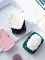 nordic ins soap dish ceramic simple soap box marble printed gold soap dish creative hotel bathroom soap rack