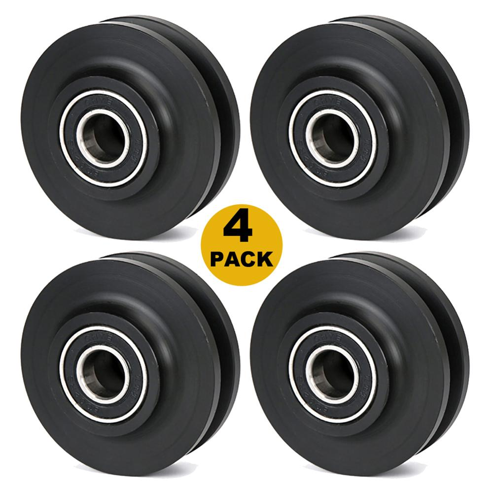 4pc Replacement Sliding Barn Door Wheel Closet Hardware Roller Window Pulley for Interior Cabinet Cupboard Drawer Door