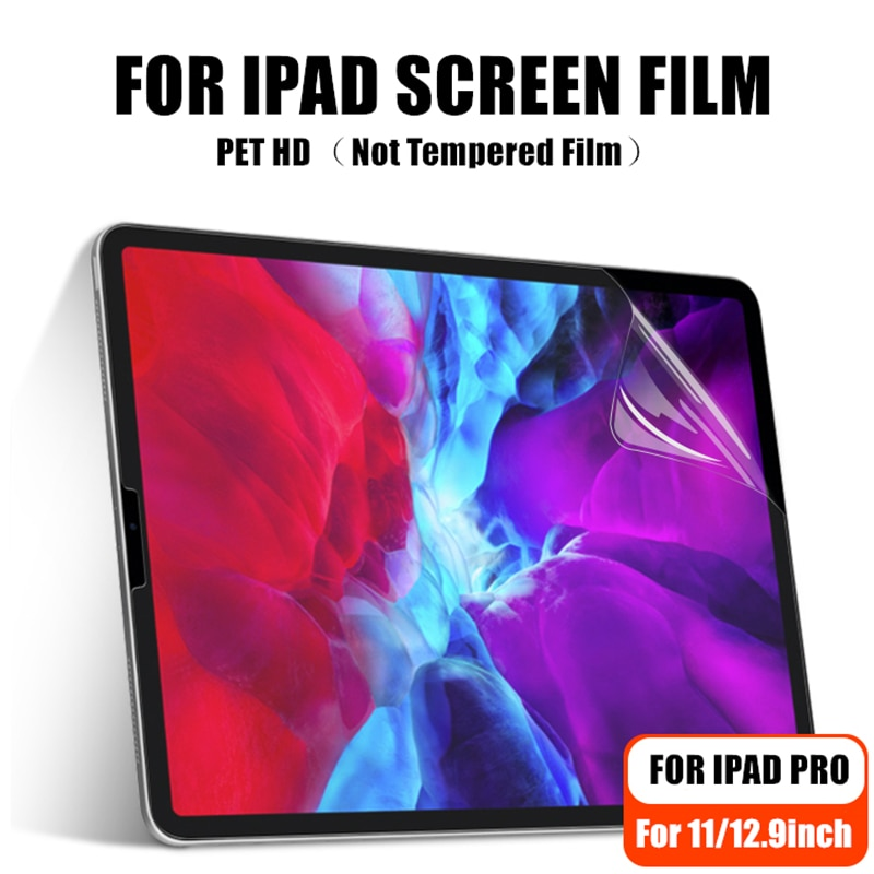 Película de pantalla PET HD para iPad Pro 11 Protector de pantalla Ultra claro Universal para iPad Pro 11 12,9 2018 2020 (sin película templada)