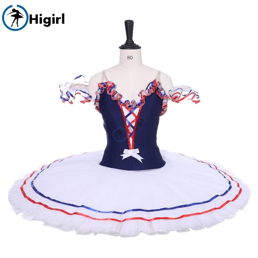 Adult Girls Navy Blue Bird Variation Professional Ballet Tutus BT9213 Women Swan Lake Classical Stage Costume