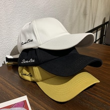 Ins Peaked Cap Trendy Brand Women's Korean-Style All-Match Face-Looking Small Summer Simplicity Lett