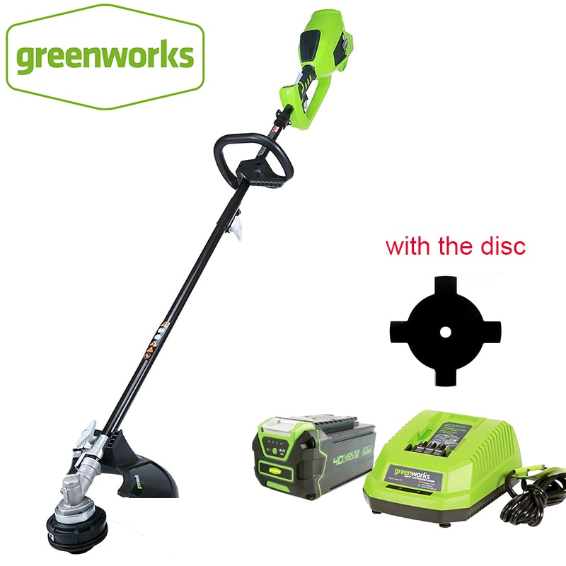 Greenworks الانتهازي للعشب ، فرش 800 واط G-MAX قوية 40 فولت 14 بوصة سلسلة لاسلكية ، 4Ah بطارية وشاحن أدوات الحدائق