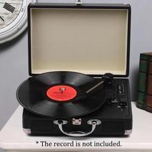 Platine avec haut-parleurs Vintage   Phonographe, lecteur denregistrement, son stéréo, platine Machine Portable, courroie-lecteur, 3 vitesses