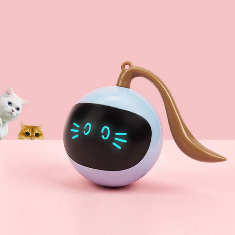 Electronic Pet Cat Toy Smart Cat Toy Rotating Ball Automatic Funny Cat Exercise Toy Rechargeable Bal