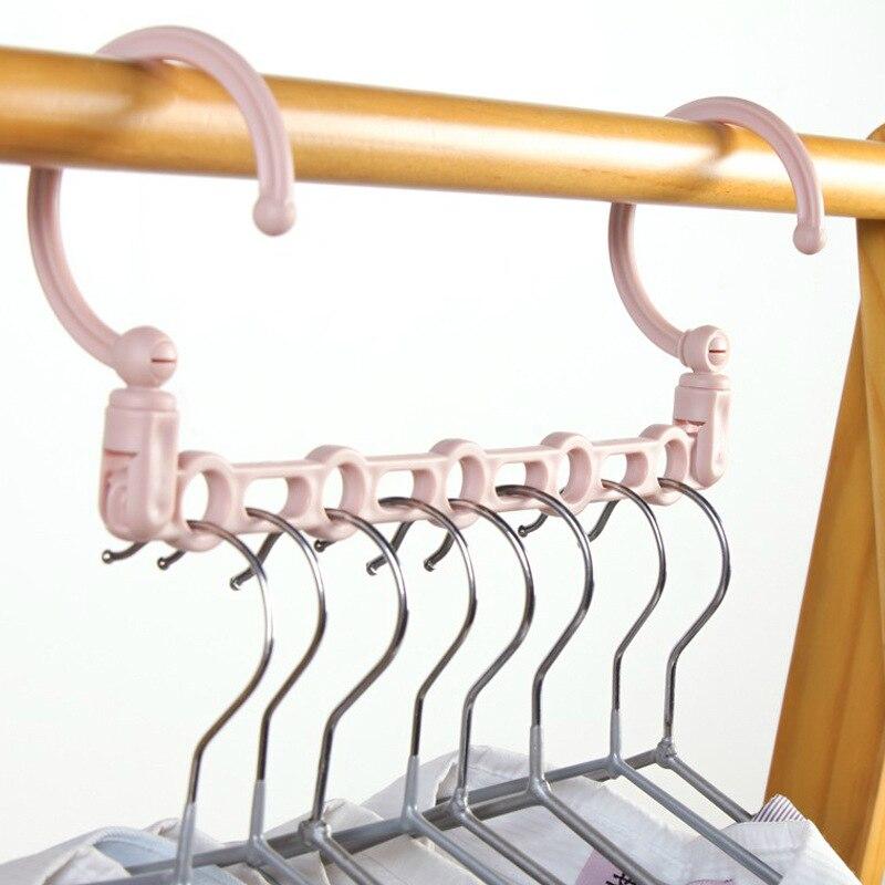 5 agujeros apoyo círculo ropa percha de secado bastidores multifunción de plástico bufanda ropa percha de Rack de almacenamiento
