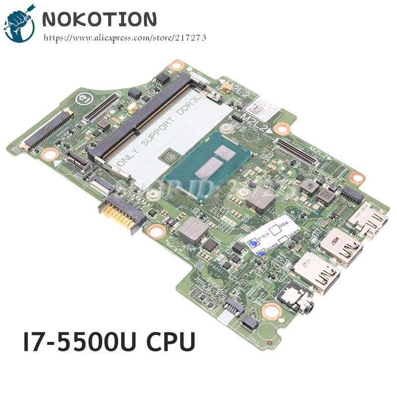 NOKOTION CN-08H90T 08H90T اللوحة الأم لديل انسبايرون 7348 7352 7558 اللوحة المحمول 13321-1 8X6G1 I7-5500U CPU DDR3L