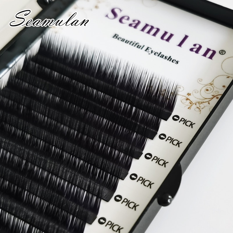 L/L+/LJ all size 12rows/tray 7-15mm mix individual mink eyelashes extension russian volume eyelashes extension supplies natural