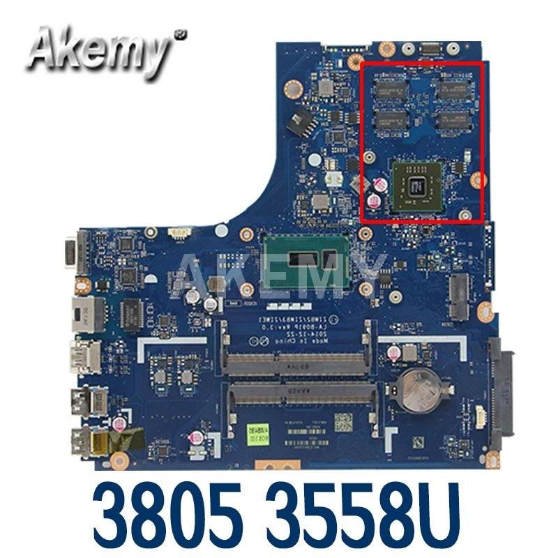 Akemy ZIWB2 / ZIWB3 / ZIWE1 LA-B091P REV :3.0 لينوفو B50-70 اللوحة الأم للكمبيوتر المحمول ، CELERON 3558U 3805 + R5 M230 وحدة معالجة الرسومات (جديد itew)