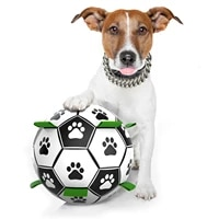 dog toy lovely paw football toys for puppy large dogs outdoor training interactive pet bite chew ball toys soccer and inflator