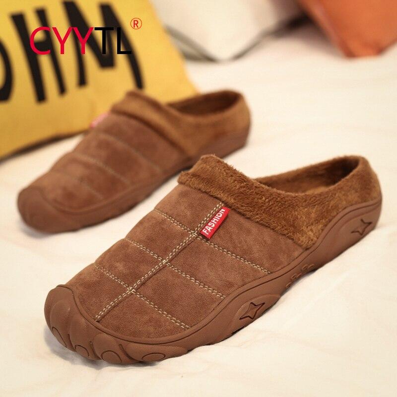CYYTL-Zapatillas cálidas de piel para hombre, zapatos de interior a la moda,...