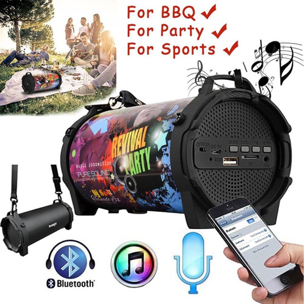 Altavoz Bluetooth inalámbrico Smalody, altavoz portátil de columna para exteriores, barra de sonido, Subwoofer, caja de sonido de música, caja Boom de ordenador para teléfono