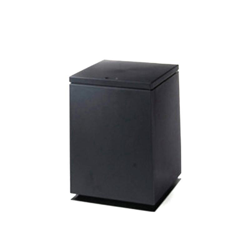 Cesto de basura tipo empuje para el hogar, oficina, cesto de basura para baño, caja de basura, mesa, papelera, artículos diversos, Cubo de basura organizador de almacenamiento (negro)