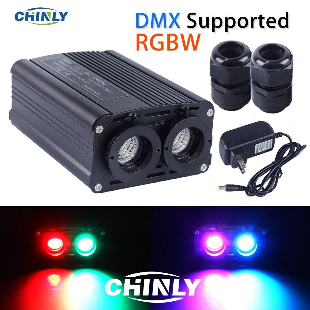 O motor 32 w rgbw da fibra ótica dmx512 conduziu a fonte dobro ilumina cabeças com o controlador do rf para iluminações decorativas