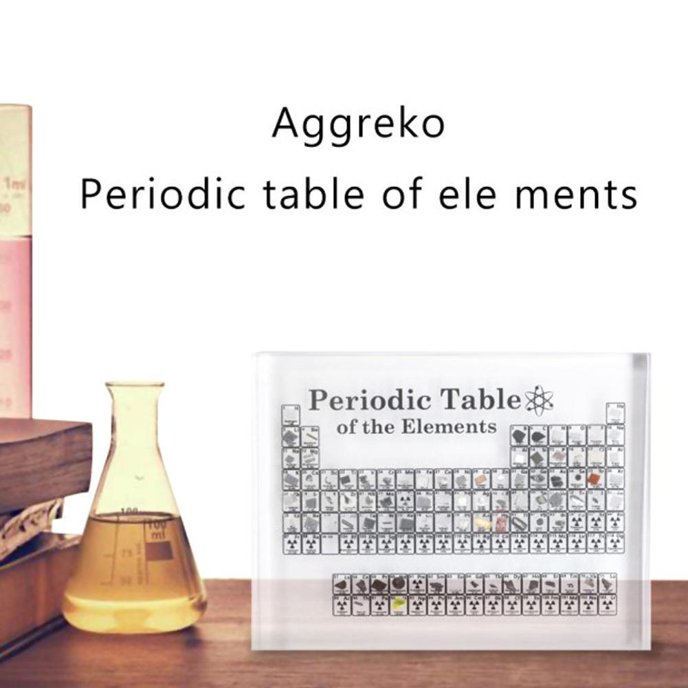 Mesa Periódica acrílica elementos de enseñanza educadores número atómico guía edición profesional contiene 83 elementos de muestra