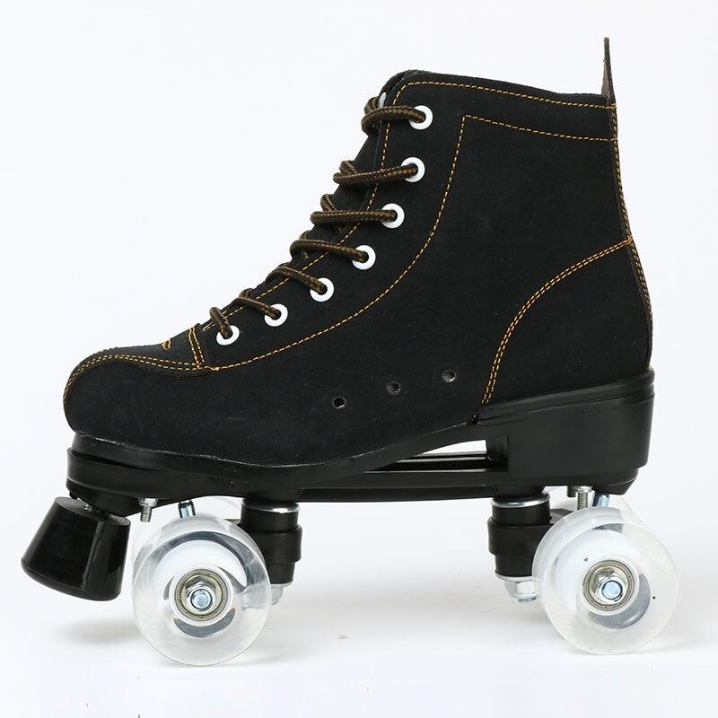 2021 الفتيات وامض النساء الجلود الاصطناعية الكبار رباعية زلاجات دوارة التزلج انزلاق أحذية رياضية 4 عجلات المبتدئين الصالة الرياضية المبتدئين