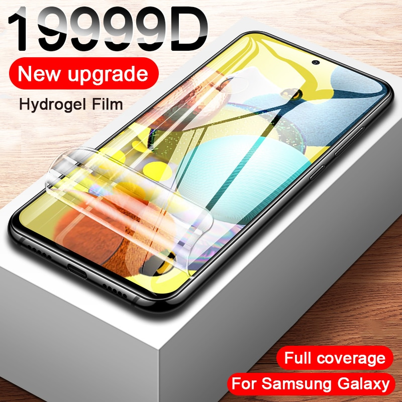 Screen Protector For Samsung A51 A50 A71 A70 Hydrogel Film On A52 A72 A10 A21 A31 A80 M51 S6 S7 edge