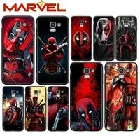 deadpool hero marvel for samsung galaxy j2 j3 j4 core j5 j6 j7 j8 prime duo plus 2018 2017 2016 soft black phone cover