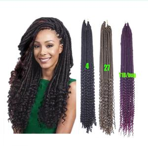 """Free Shipping 20"""" 100G 24Roots Goddess Faux Dread Locs Crochet BraidsTop Quality  Faux Locs  Synthetic Braiding Hair Extensions"""