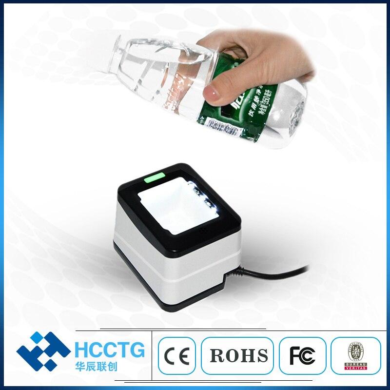 Caja de pago móvil 2D lector de código de barras Rs232/Usb escáner de código Qr para Ali Caja de pago CMOS 1D 2D código de barras POS HS-2001B