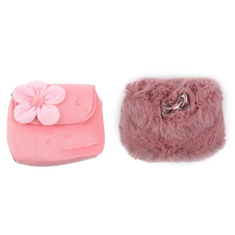 FGGS-2 Uds niños niñas niños princesa Bolso Tote mochila bandolera mensajero cartera, rosa y púrpura rojo