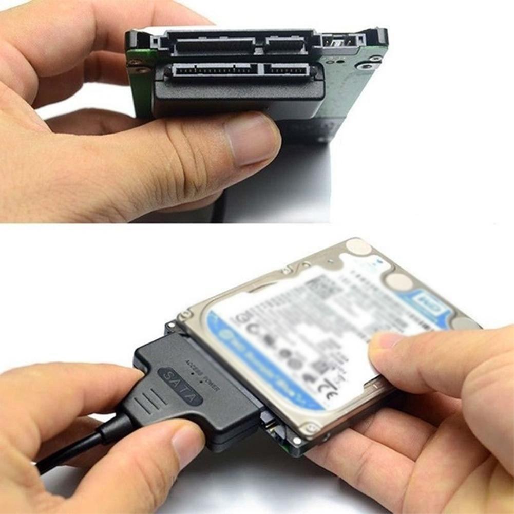 Cable HDD de 7 + 15 pines SATA, USB 2,0 a 2,5 pulgadas, adaptador para SATA disco SSD HDD de y duro G5I4