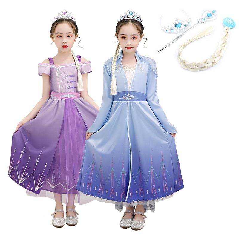 Elsa traje para niñas disfraces para Cosplay de Navidad vestido de fiesta para niñas vestidos de la princesa Elsa Cosplay Anime bañador Cosplay