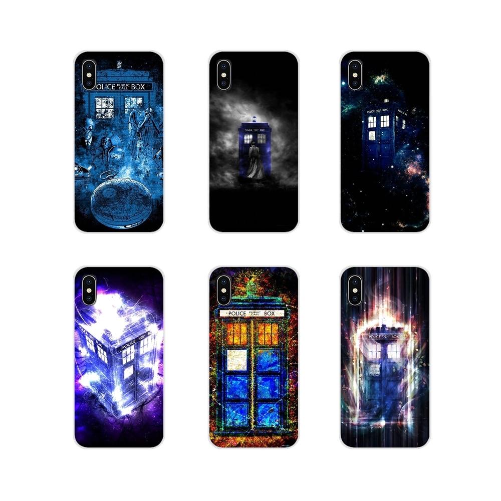 Para iPhone X de Apple XR XS 11Pro MAX 4S 5S 5C SE 6 6S 7 7 Plus ipod touch 5 6 Tardis décimo Doctor Dr que en el espacio del teléfono móvil casos