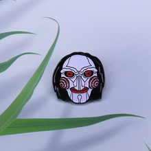 Scare Freshener SAW  Billy Puppet Mask enamel pin Halloween Horror Movie pin