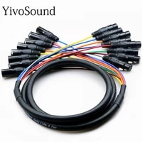 multi channel audio signal cable 8 way stage light sound and signal line multi core connector xlr male and female pair plug