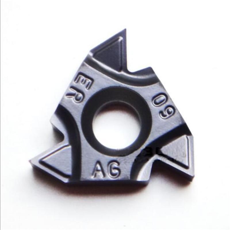 Taegutec hoja roscada original 16ERM AG60 1,5 2.0ISO TT9030 11W 14W 19W NPT inserto de roscado uso para acero inoxidable
