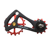 KACTUS TECH 17T Bicycle Ceramic Bearing Pulley carbon fiber Rear Derailleur Jockey Guide Pulleys Wheel Bearing For SRAM ETAP MTB