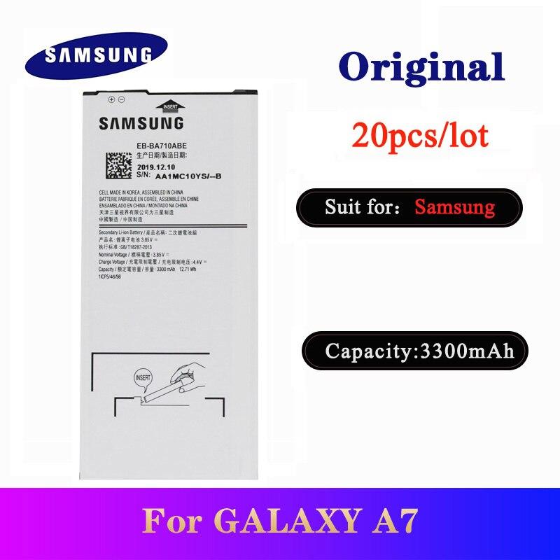 20 pçs/lote EB-BA710ABE Da Bateria Para Samsung Galaxy A7 2016 A710 A7100 A7109 A710F Original de Alta Qualidade Bateria 3300mAh
