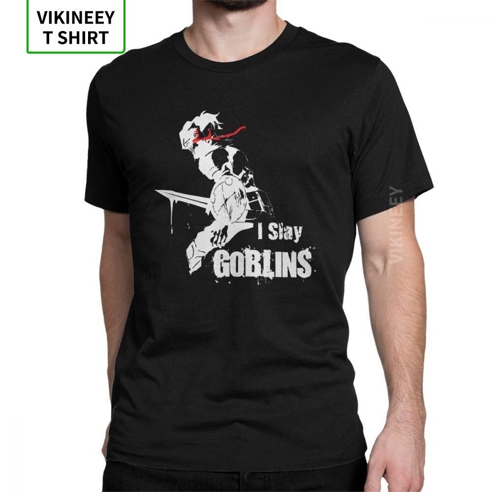 Camiseta para hombre I Slay Goblins Goblin Slayer 2019, camisetas de Manga corta de Anime a la moda, camisetas con cuello redondo, Camiseta estampada de algodón