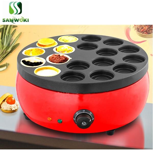 Máquina eléctrica para tortas de frijol rojo máquina para tortas de 18 agujeros máquina para tortas de pan