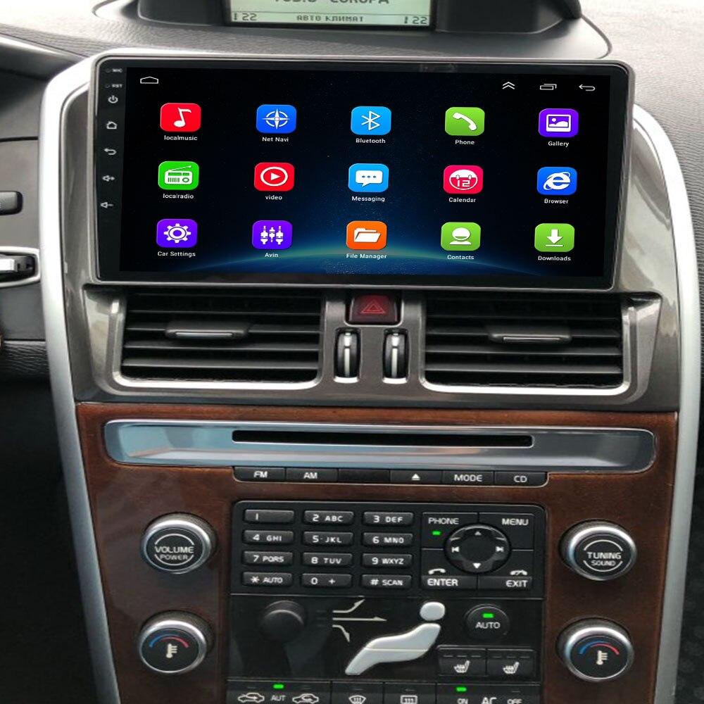 4G LTE Android 10,0 para Volvo XC60 2009, 2010, 2011, 2012 Multimedia estéreo reproductor de DVD del coche de navegación GPS Radio
