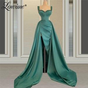 2021 Robe De Soiree Crystals Beaded Dubai Custom Made Formal Women Celebrity Party Dresses Long Arabic Evening Gown Prom Dress