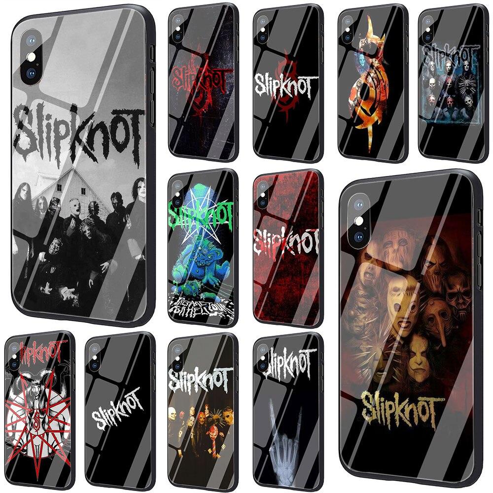 EWAU Slipknot szkło hartowane etui na telefon iPhone SE 2020 11 Pro 6 6S Plus 7 8 Plus X XS XR XS Max