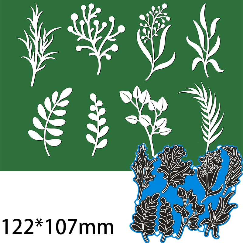 Cutting Dies  Leaves and Flowers DIY Scrap Booking Photo Album Embossing Paper Cards 122*107mm