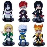 6 pieces of naruto dolls kawaii dolls anime dolls anime childrens gifts naruto toy dolls