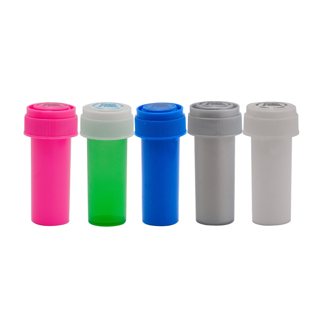 HORNET 8 Dram Push Down & Turn Vial contenedor acrílico plástico strage tarro para alijo Pill Bottle Case Box contenedor impermeable de hierbas