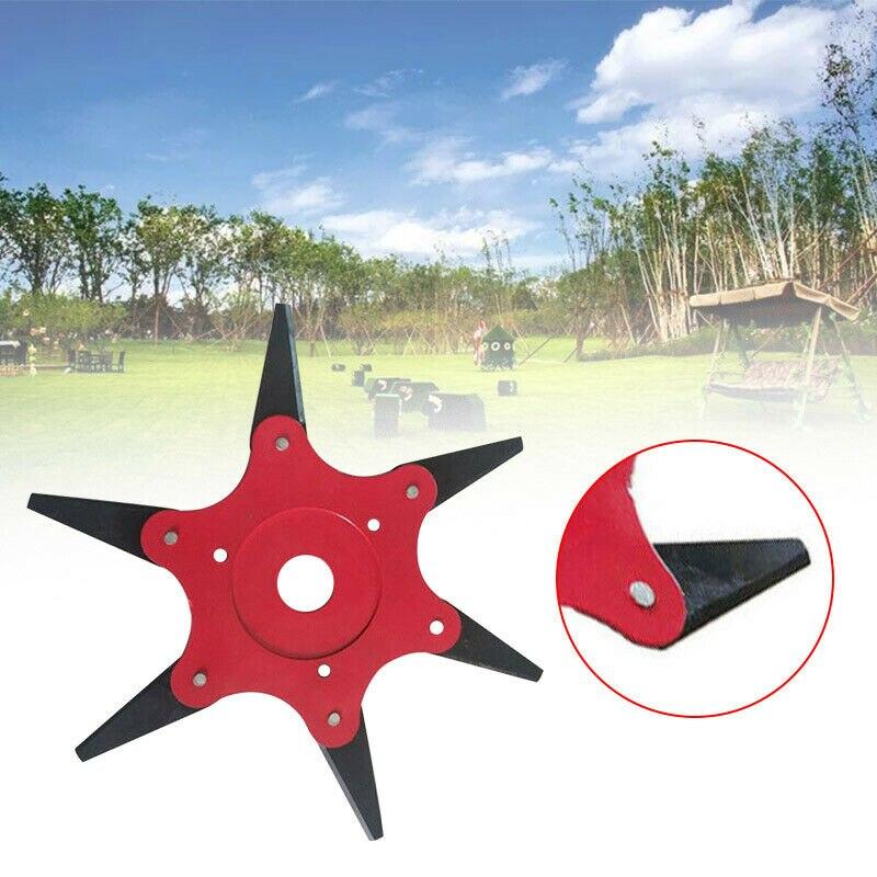 6 Steel Blades Razors 65Mn Lawn Mower Grass Eater Trimmer Head Brush Cutter Tool Garden Strimmer